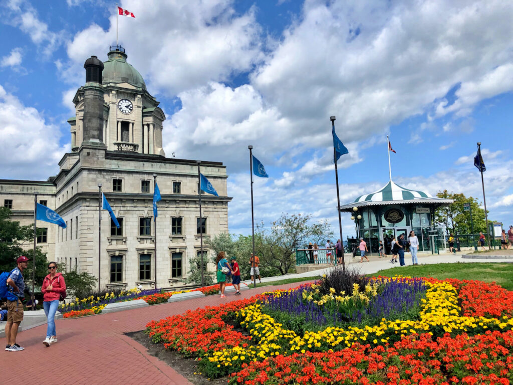 Beautiful scenery and old post office building in Quebec City.