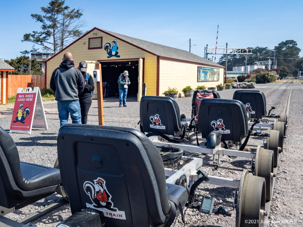 Railbikes prepped for tour