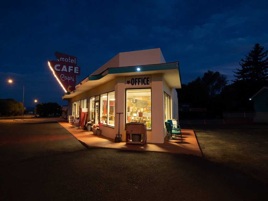 The Raton Pass Motor Inn in Raton, New Mexico.