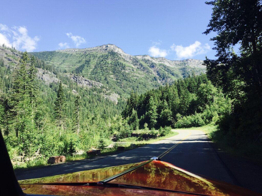 Red Bus Tour at Glacier National Park.