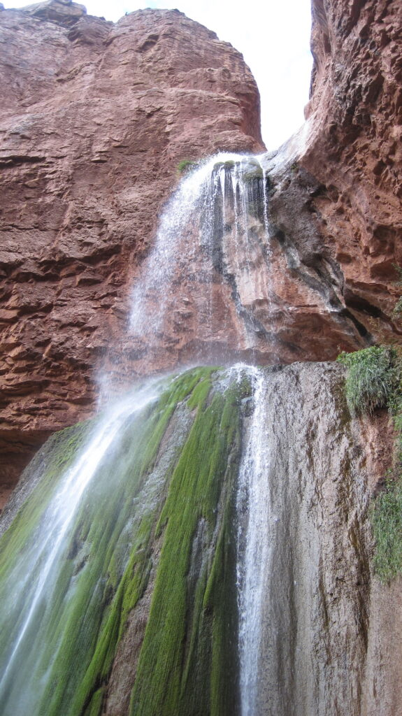 Ribbon Falls in Grand Canyon National Park.