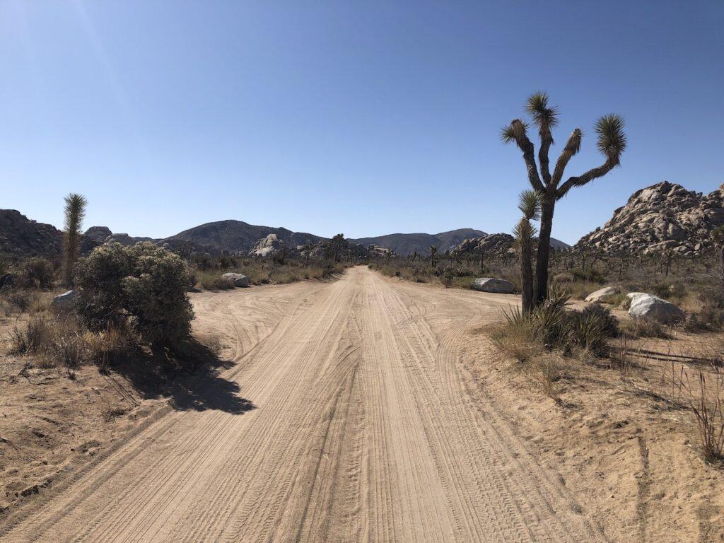 Road into Keys Ranch.