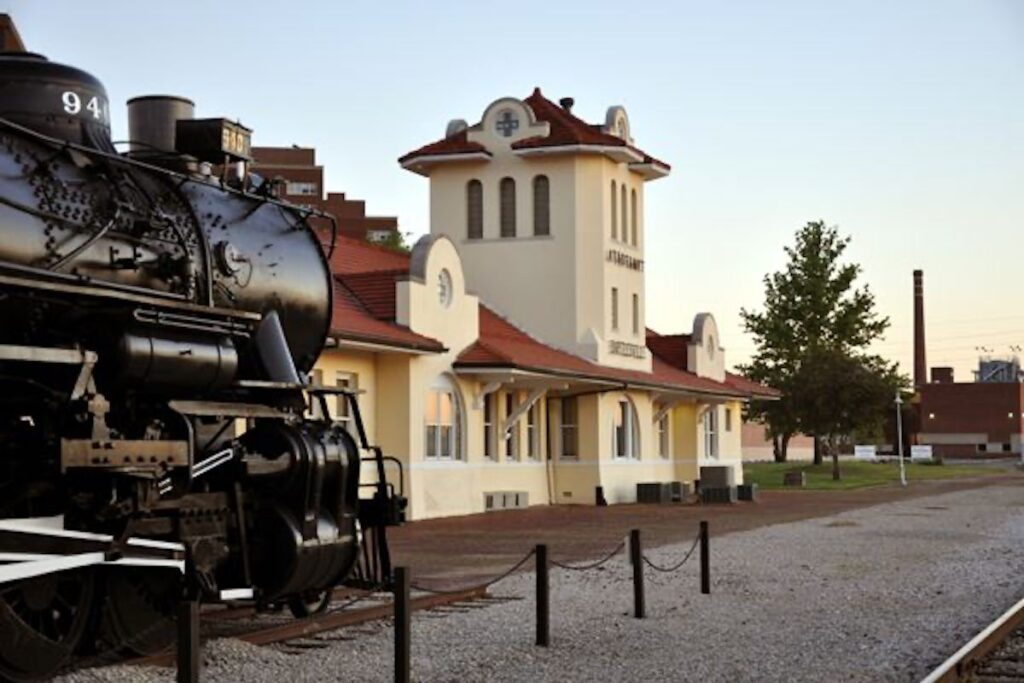 The Santa Fe Depot is another historic stop in downtown Bartlesville.