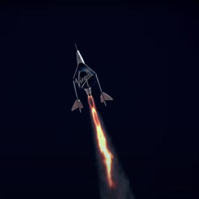 Virgin Atlantic spacecraft.