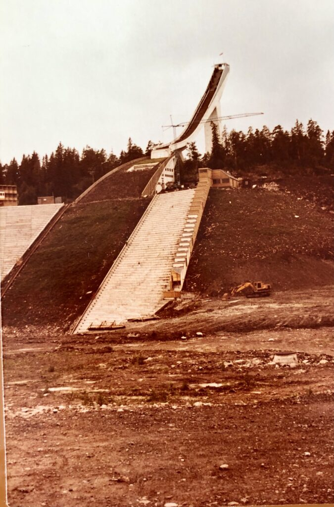 Ski jump site of the 1952 Winter Olympics in Oslo.