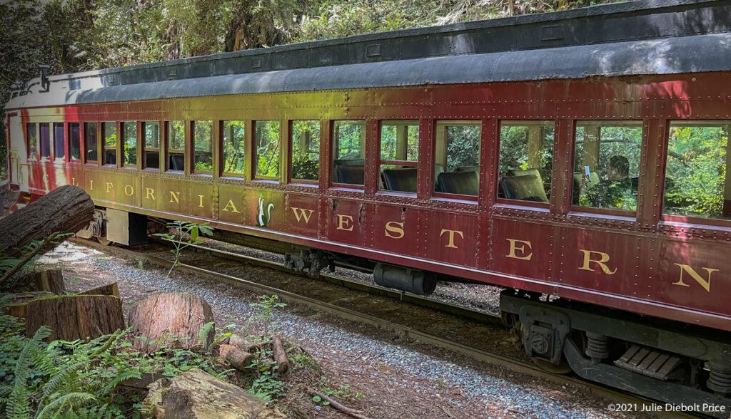Railroad car at siding