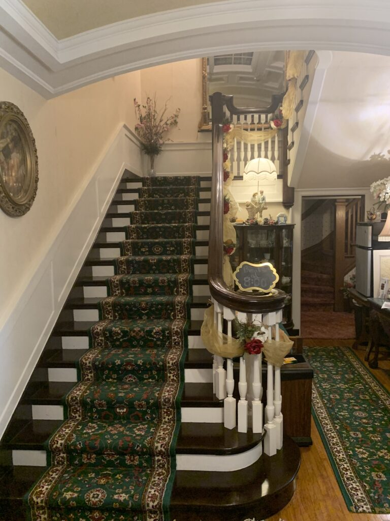 This is the stunning stairway at the McNeil Stone Mansion.