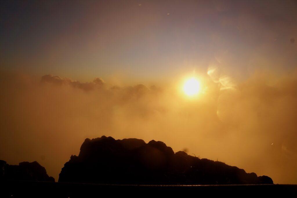 Sunrise at Haleakala National Park.