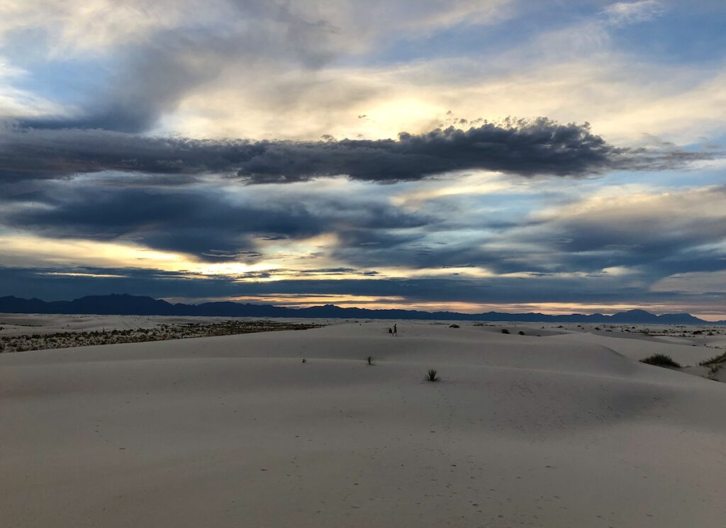 Sunset at New Mexico's White Sands National Park.