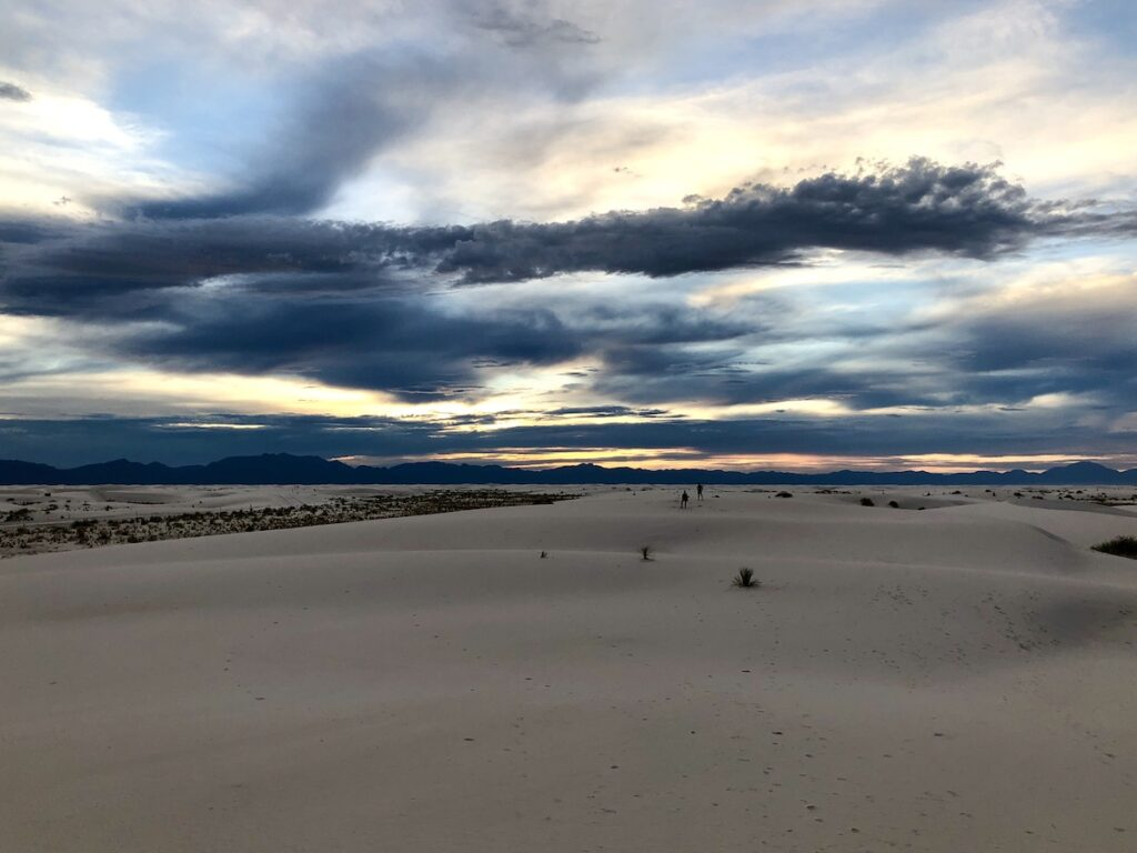 Sunset at White Sands National Park.