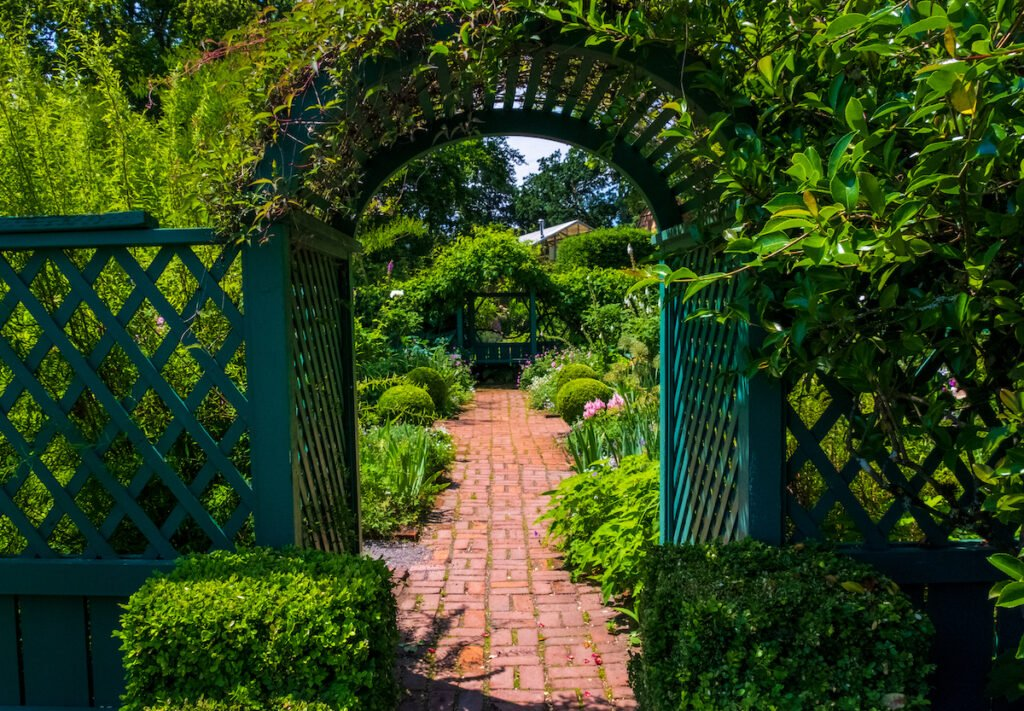 The Tea House Garden at Deepwood Museum and Gardens.