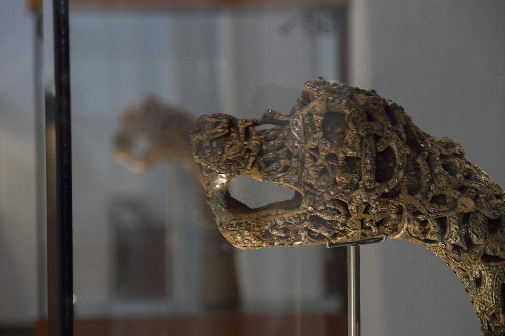 Viking dragon head.