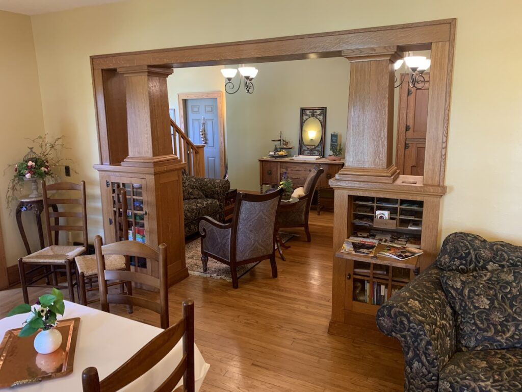 This interior shot of the Cheesemaker Inn B&B is part of the original home.