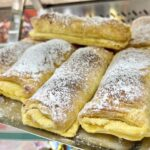 Travesseiros, one of the tastiest pastries in Europe, in Sintra, Portugal.