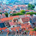 Rooftops in Nuremberg, Germany.