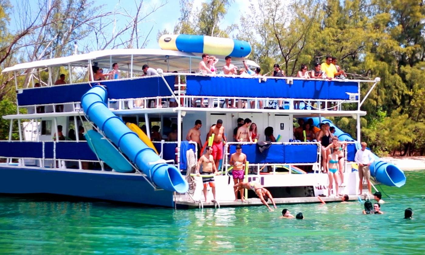 70-Foot Huge Water Park Catamaran In Miami, Florida