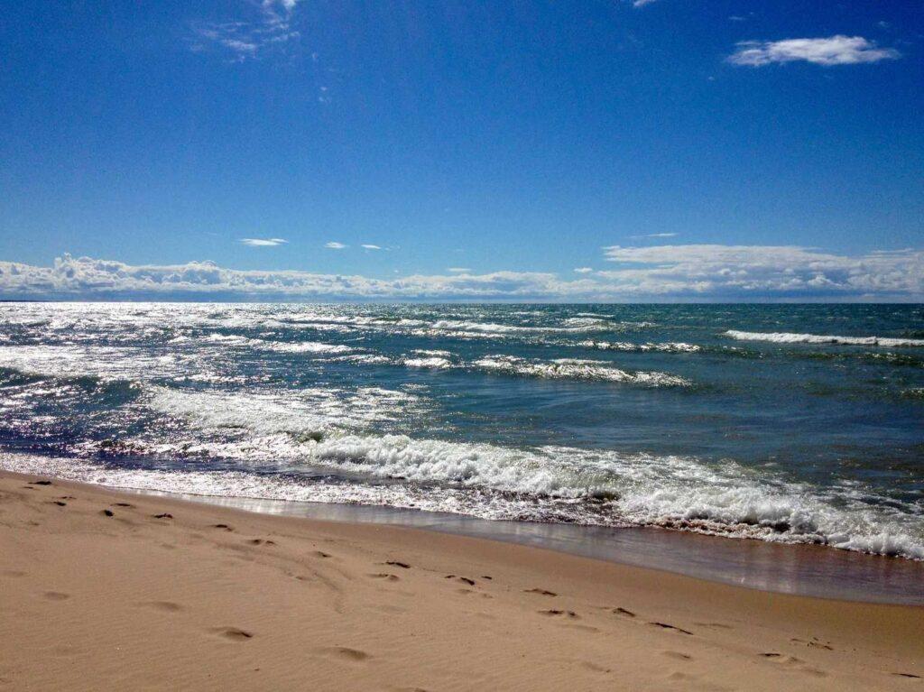 Lake Michigan beach at Weko Beach Campground in Bridgman, Michigan