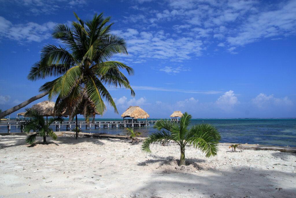 Beach, Ambergris Caye, Belize.