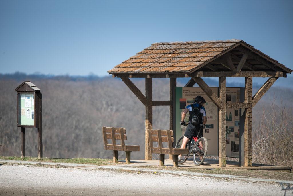 Mountain biking in Brown County, IN