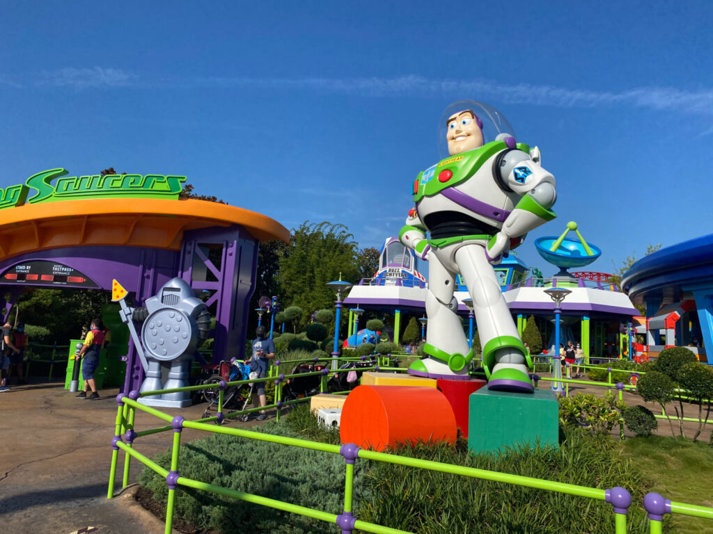 Buzz Lightyear in Toy Story Land at Hollywood Studios