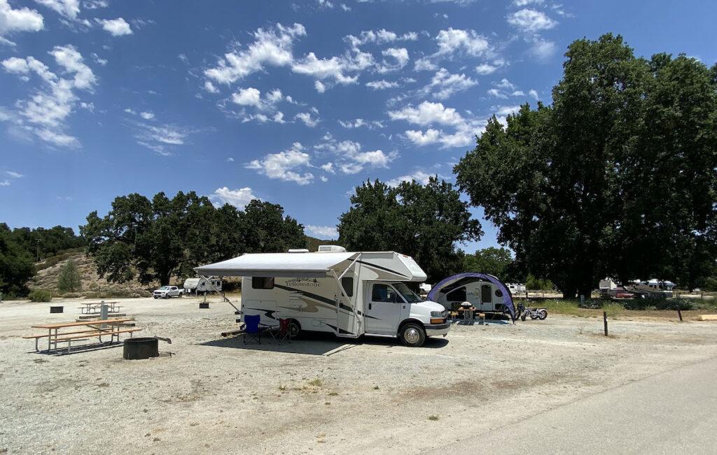 Camping site at Pinnacles National Park.