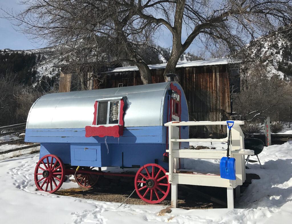 Gypsy Wagon at Avalanche Ranch Hot Springs.
