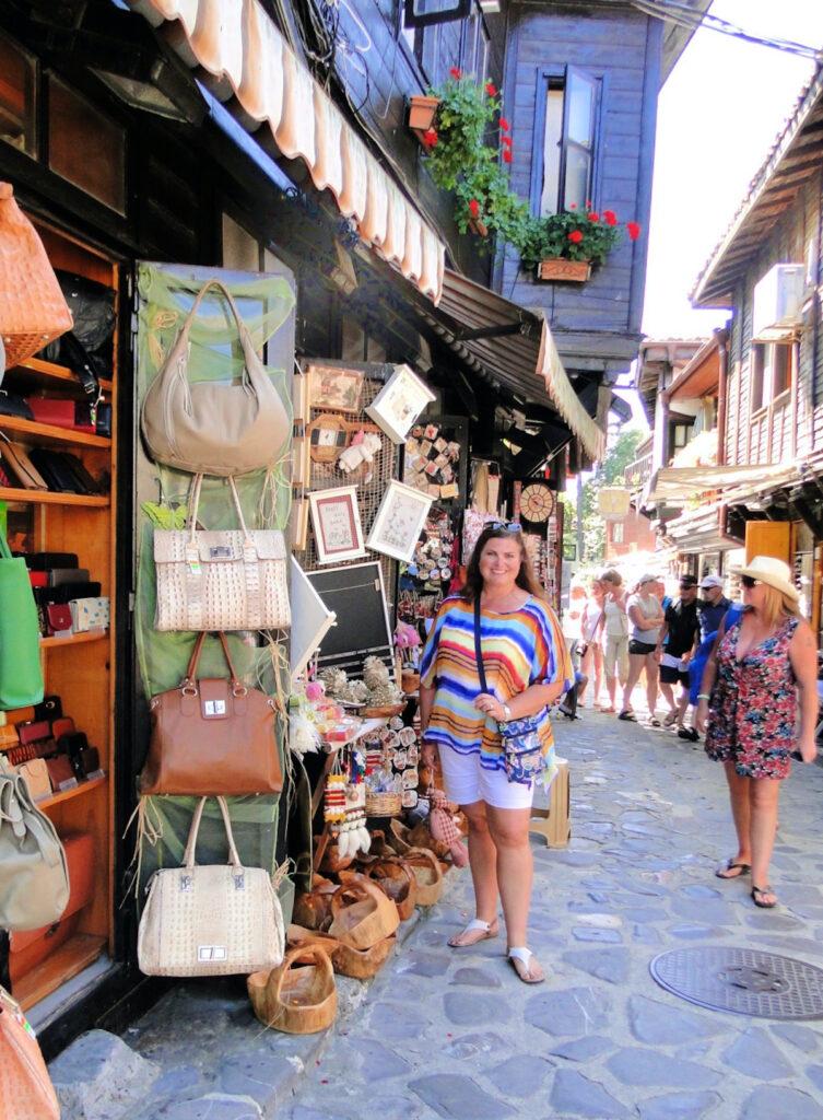 Walking around historic Nessebar, Bulgaria.