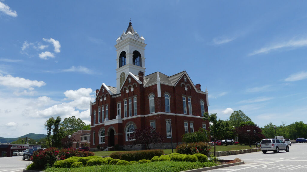 Old Courthouse on the Square in Blairsville, GA.