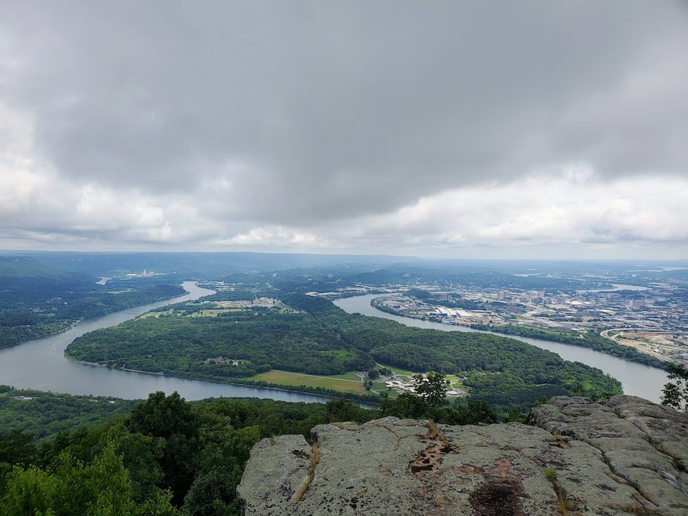 view from Point Park on Lookout Mountain Chattanooga, TN