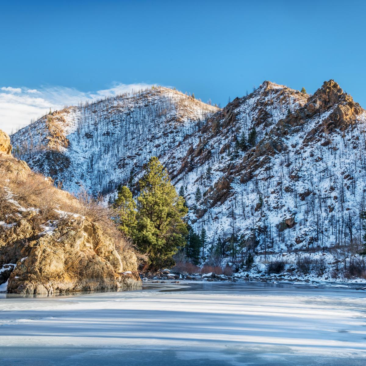 Poudre Canyon in Colorado.