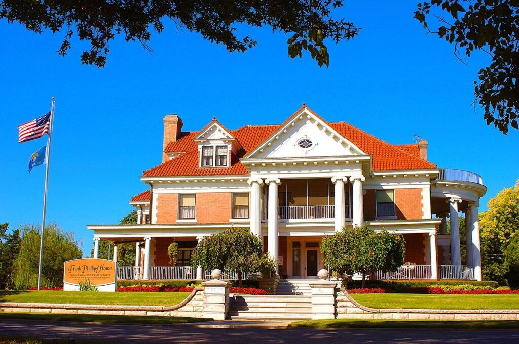 The Frank Phillips Home is one of the many historic homes to tour in Bartlesville.