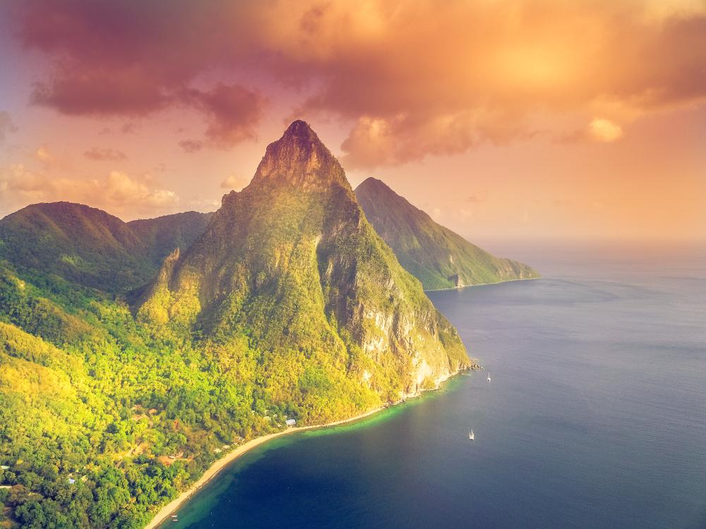 Santa Lucia - La Souffriere bay - Caribbean Island