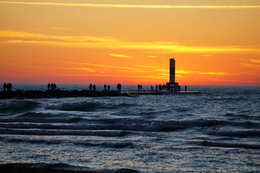 Sundown on Lake Michigan Holland State Park