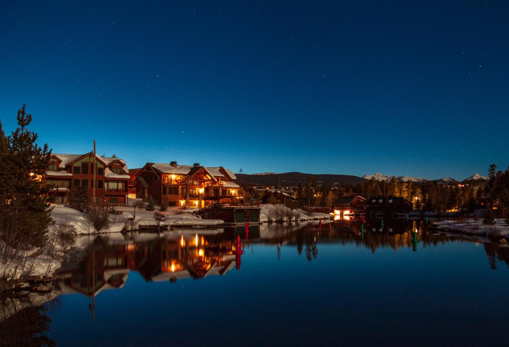 Grand Lake, Colorado, at night.
