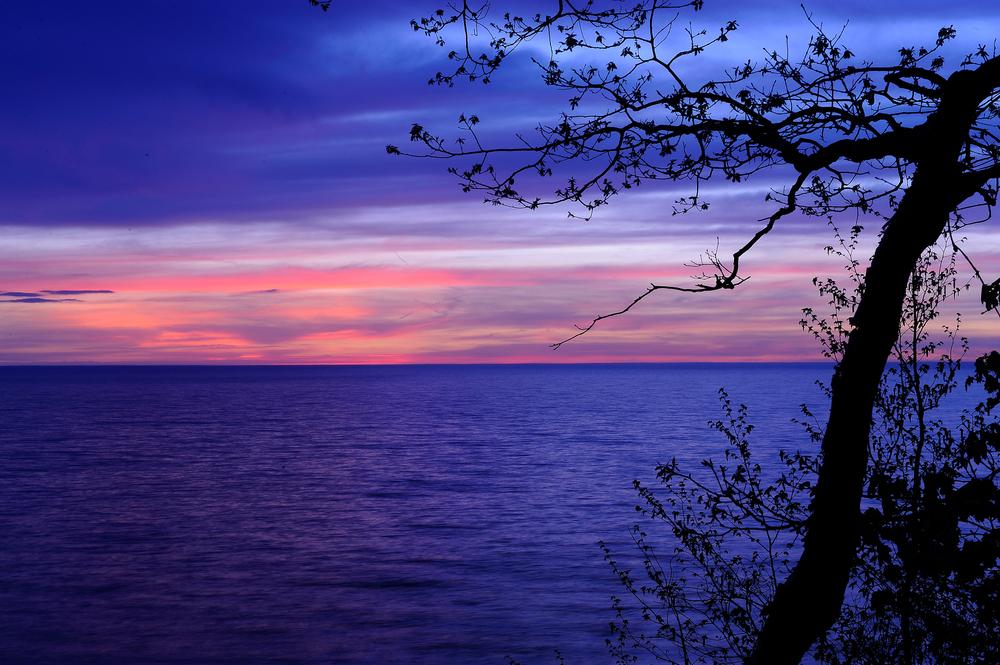 Lake Michigan sunset at South Haven, MI.