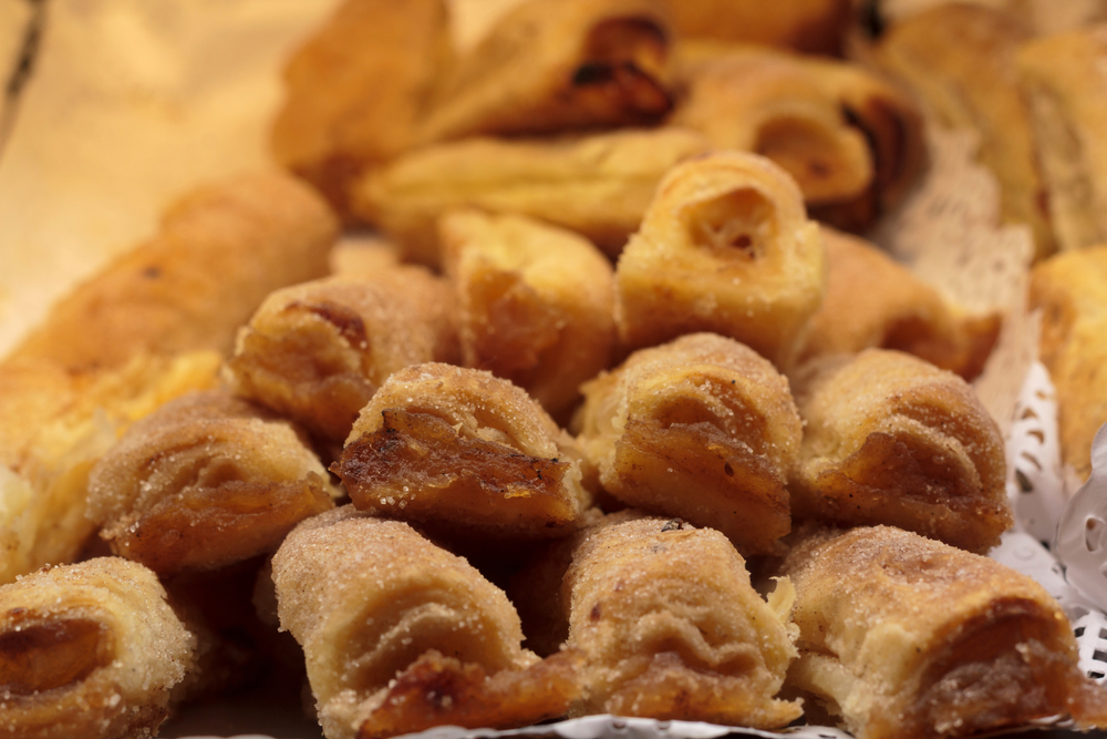 Traditional portuguese sweet pastry from Sintra called Travesseiros