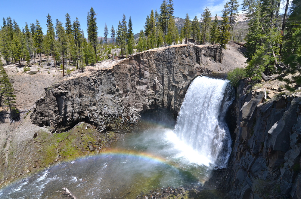 Rainbow Falls at Devil's Postpile National Monument, California, USA