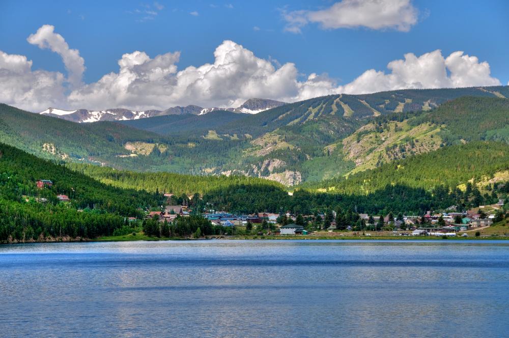 Nederland, Colorado, a mountain town near the Rock Mountains.