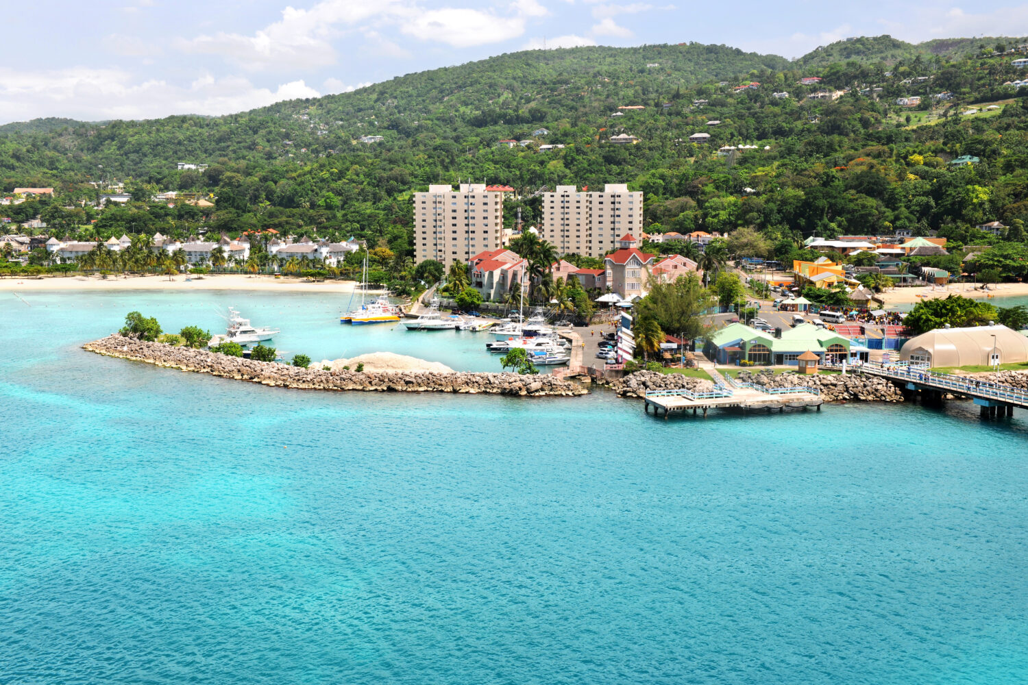 Aerial view of Ocho Rios Jamaica during daytime