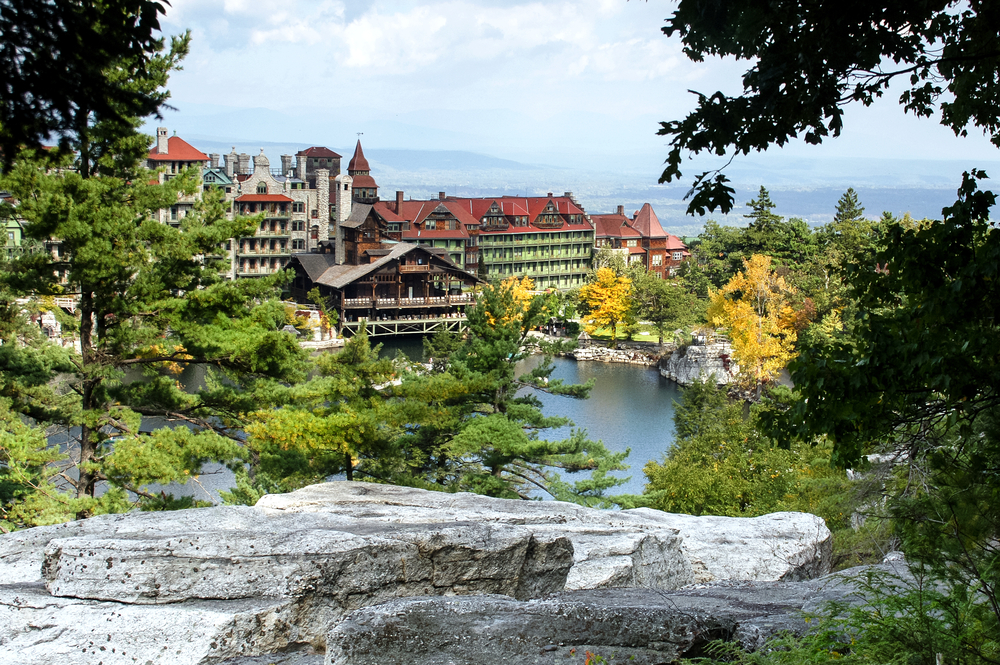 Mohonk Lake in the Catskill Mountains of New York State