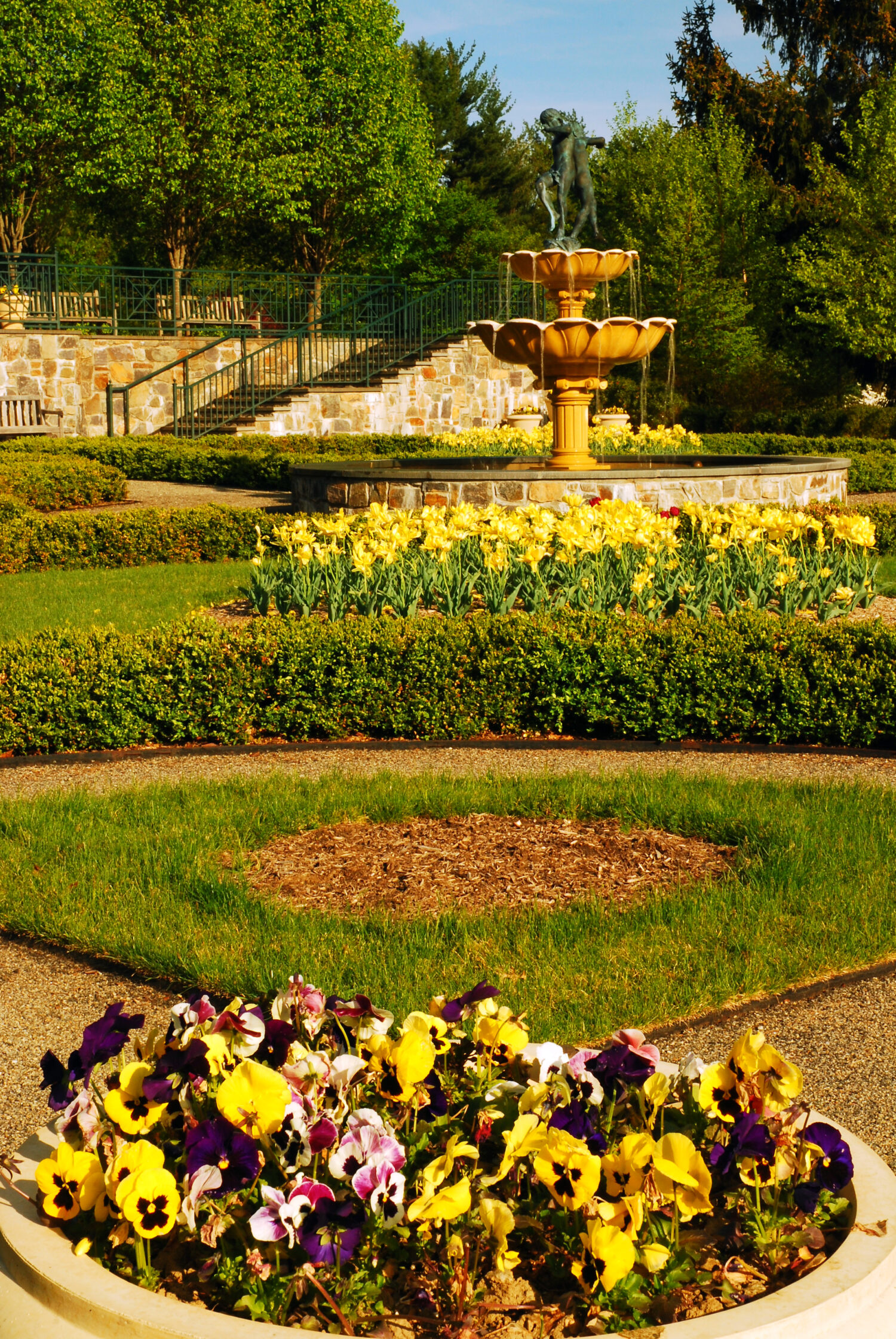The charming gardens of Ladson Arboretum and Garden in Katonah New York, comes to life in the spring and summer