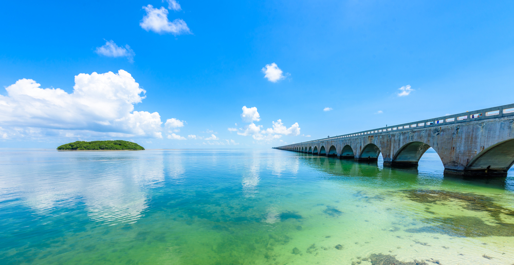 Overseas Highway, Key West, Florida, USA.