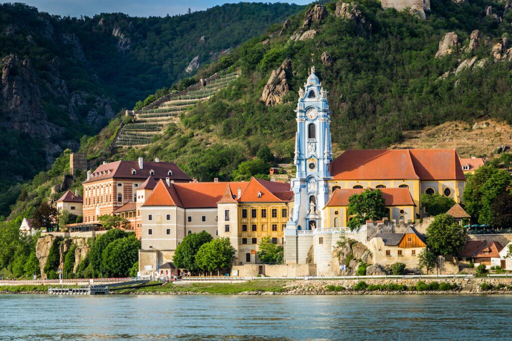 Durnstein along the Danube in the scenic Wachau Valley.