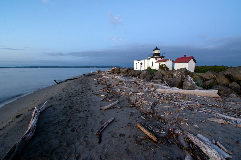 No Point Lighthouse, the oldest lighthouse in Puget sound.
