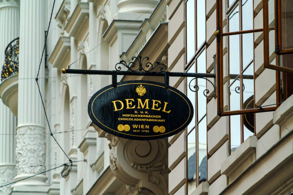 The exterior of Demel