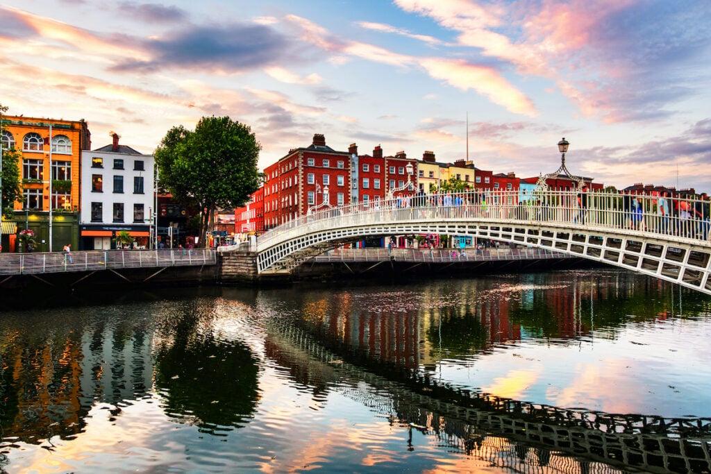 Ha Penny Bridge in Dublin, Ireland.