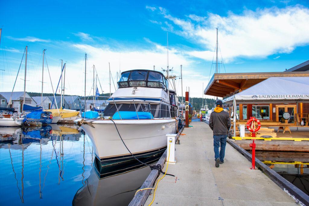 Fishing boats in Ladysmith marina, taken in Vancouver Island, British Columbia, Canada