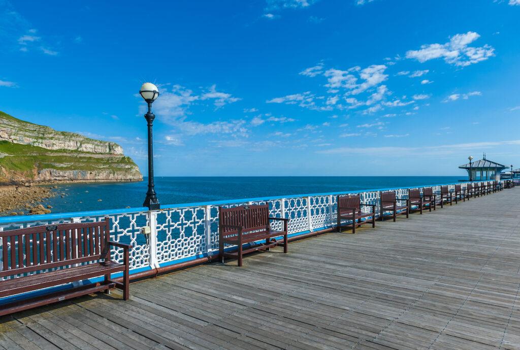 Old Victorian pier in Llandudno, North Wales, United Kingdom.