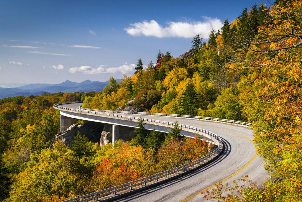 Blue Ridge Parkway Linn Cove Viaduct in North Carolina.