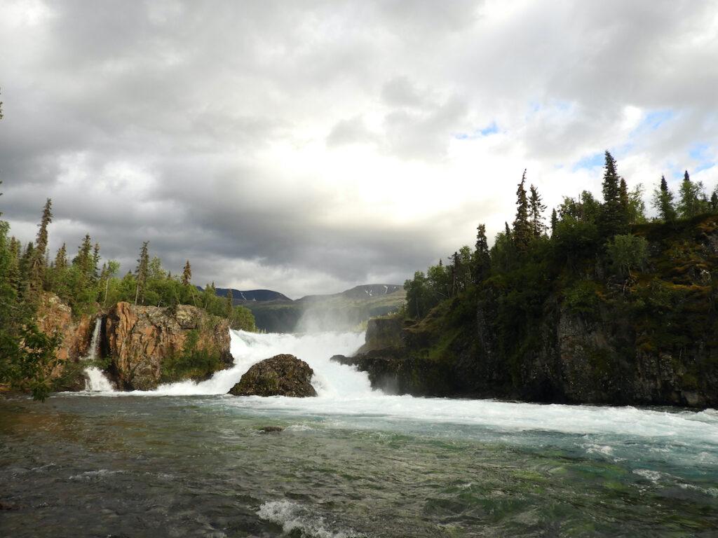 Tanalian Falls at Port Alsworth, Alaska.